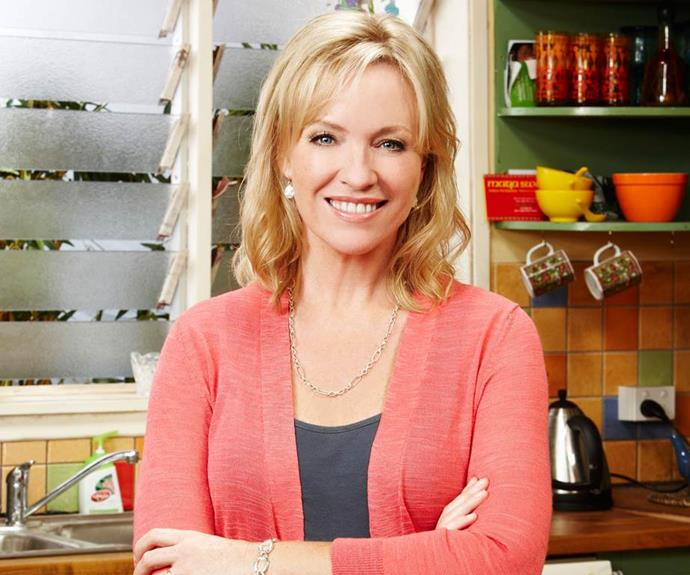 **Rebecca Gibney - Then** <br><br> In *Packed To The Rafters*, Rebecca Gibney played the country's favourite matriarch, Julie Rafter, who was mum to Ben, Rachel and Nathan (and later gave birth to little Ruby).