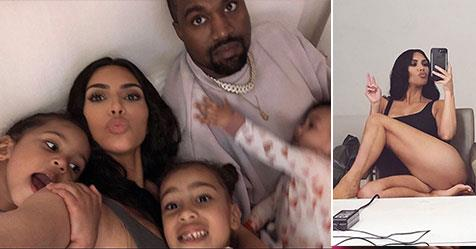 Kim Kardashian shares her first picture with all four kids | NW