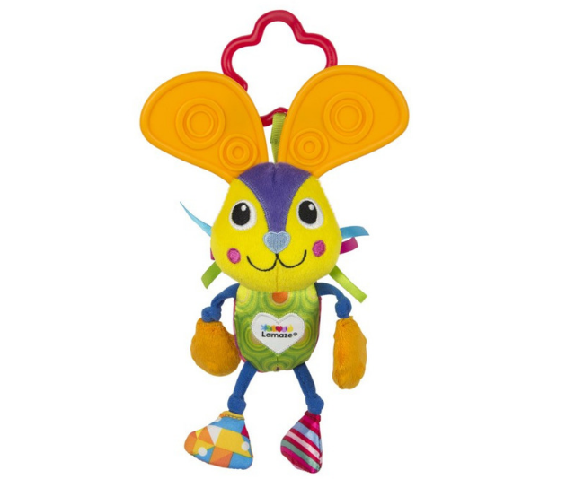 """**[Lamaze Chewy Ears Bunny](https://www.babybunting.com.au/shop/musical---sound=babybunting-613/lamaze-chewy-ears-bunny=108238#.XV4Jcq17GRs target=""""_blank"""" rel=""""nofollow""""), $9.95.** Bella Bunny Ears does more than just help with teething! This friendly Bunny has a soft plush body with multiple textures, bright colours and fun sounds to stimulate all the senses. Large, textured teether ears are great for chewing. The easy on-the-go link lets you clip to strollers, carriers and nappy bags."""