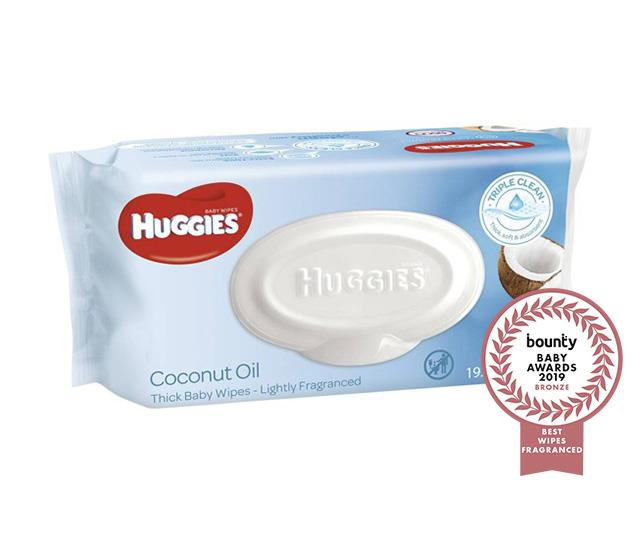 "**[Huggies Thick Baby Wipes Lightly Fragranced Coconut Oil](https://www.huggies.com.au/nappies/wipes|target=""_blank""