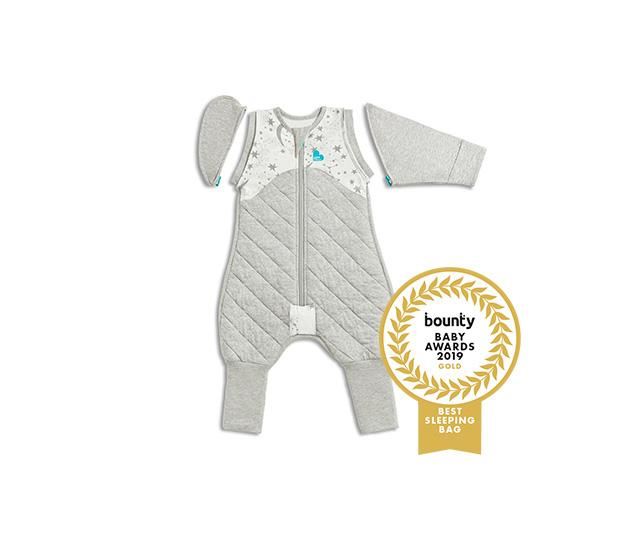 """**[LOVE TO DREAM Swaddle Up Transition Suit](https://lovetodream.com.au/swaddle-up-transition-suit-original-1-0-tog/ target=""""_blank"""" rel=""""nofollow""""), $59.95.** The '5-in-1' SWADDLE UP™ Transition Suit helps babies move from the full swaddle to unswaddled. The suit has been created with a snug fit upper chest and specially designed zip-on SELF-SOOTHING™ sleeves with fold over cuffs to provide a swaddling effect. It also has two ARMS UP™ zip-off wings, which should remain attached to the suit until baby is ready to transition. If baby is ready to transition straight away, start with one wing on and one SELF-SOOTHING™ sleeve on, with the cuffs folded over."""