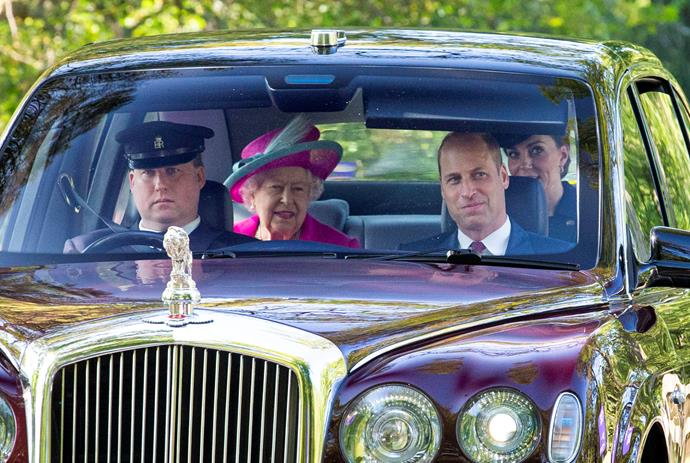 Wills, Kate and the Queen weren't the only royals who travelled in the regal convoy...