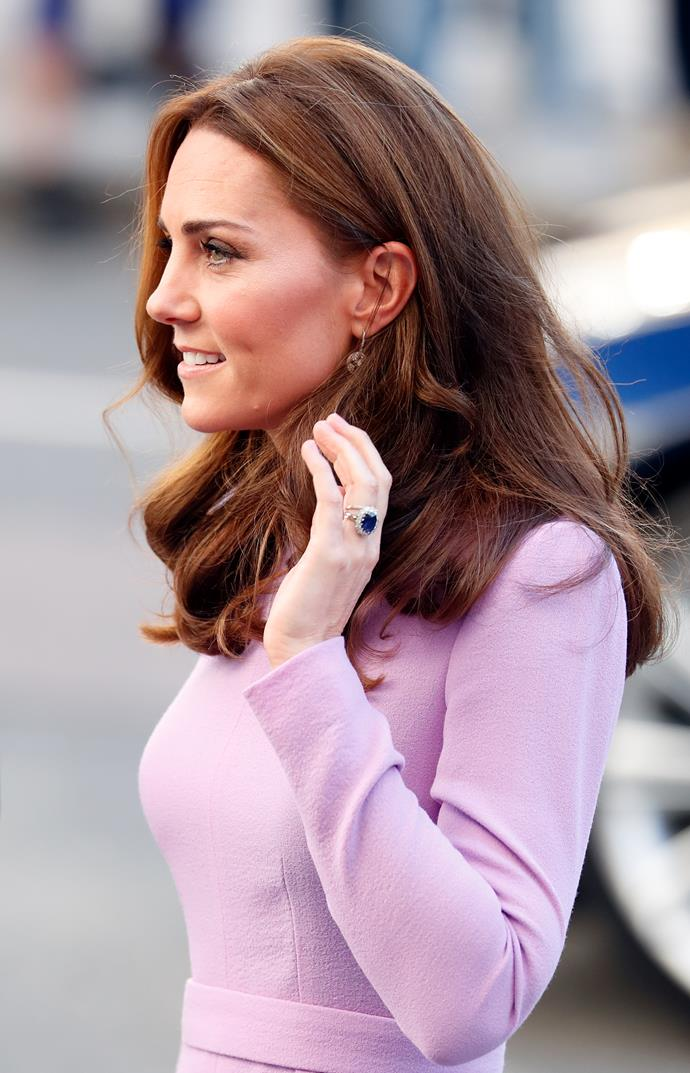 Kate's sapphire engagement ring, which belonged to Diana, never fails to take our breath away.
