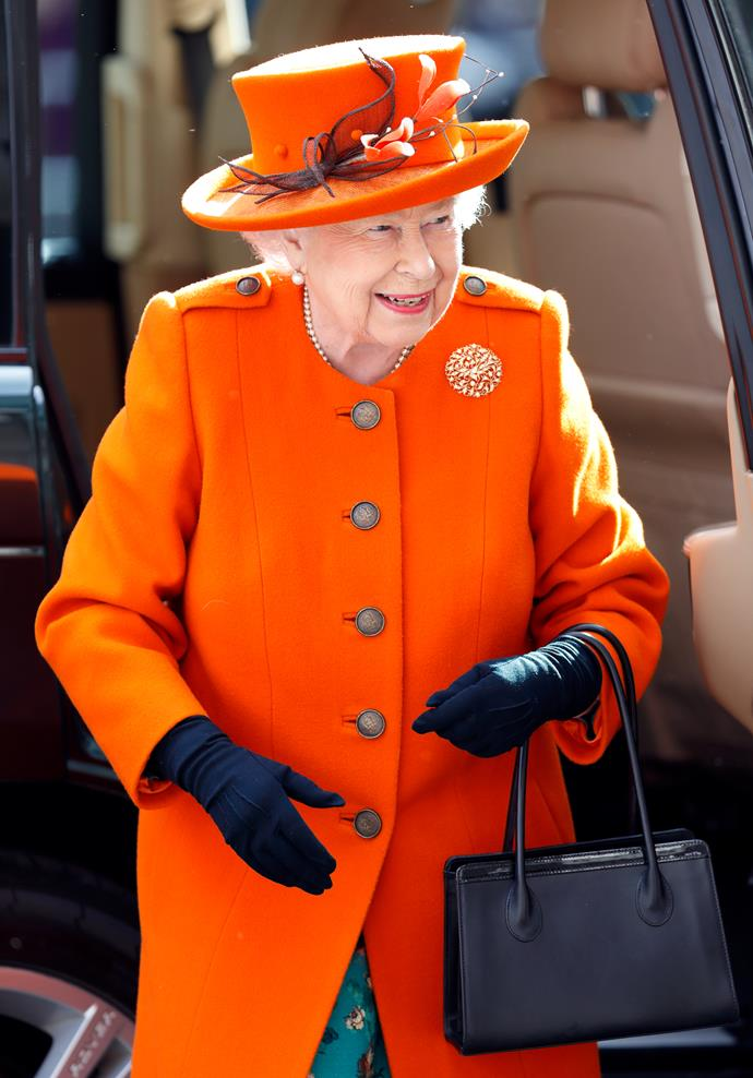 The Queen has opted to wear the striking colour on more than one occasion.
