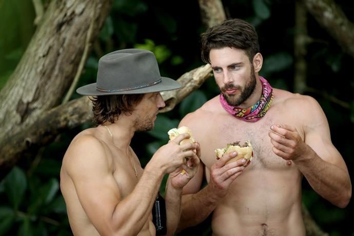 Shaun reveals he's great friends with David outside of *Survivor.*