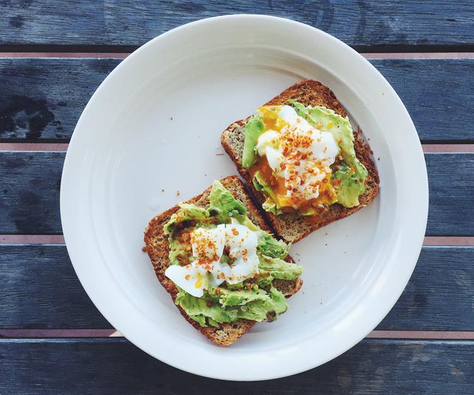 Two poached eggs on toast with avocado is the perfect breakfast or brunch meal.