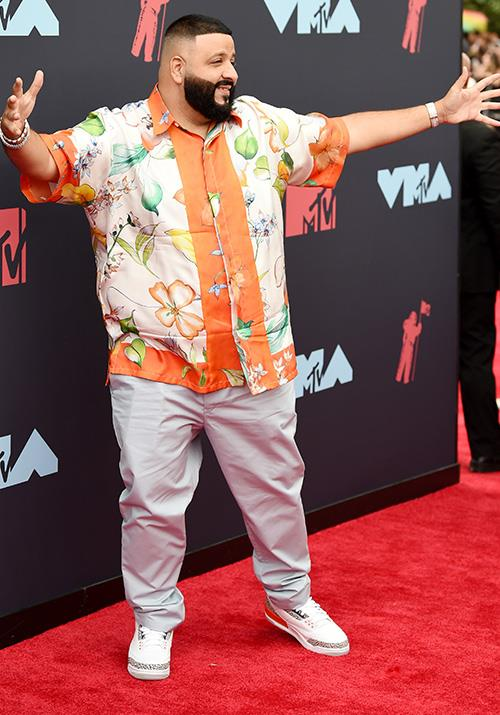 Meanwhile, DJ Khaled opts for florals - perhaps to celebrate the upcoming spring Down Under?