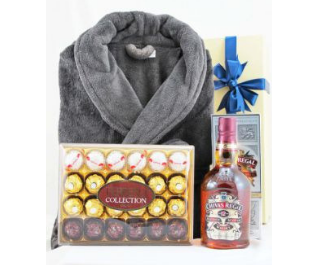 """Men's Robe & Scotch Pamper Hamper, $159 from [A Little Luxury](https://www.alittleluxury.com.au/products/mens-robe-scotch-pamper-hamper&recipient=fathers_day_gifts&page=1 target=""""_blank"""" rel=""""nofollow""""). Make your dad feel like a king in his own home with this little bit of luxury!"""