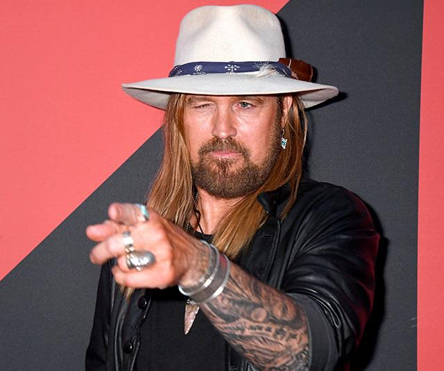 Billy Ray Cyrus has his eye on the prize, and he's rocking some serious hand-bling while doing so.