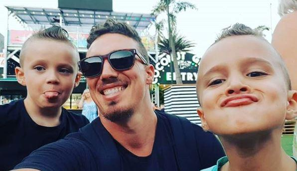 Luke with his beautiful boys Lennox and Nate.