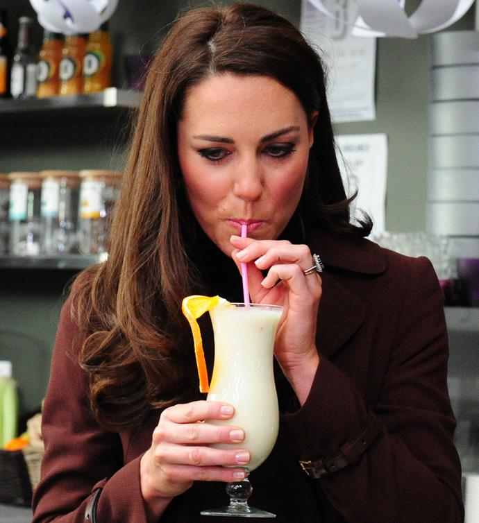 Duchess Catherine clearly likes pina coladas!