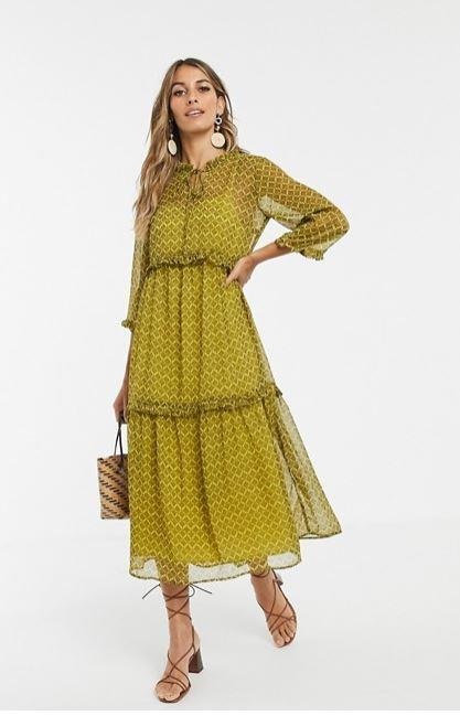 "If you're after another colour, this beautiful Y.A.S. dress is available from ASOS for $130. Buy it [here](https://www.asos.com/au/yas/yas-paisley-printed-tiered-smock-maxi-dress/prd/12755133?clr=multi&colourWayId=16453251|target=""_blank""