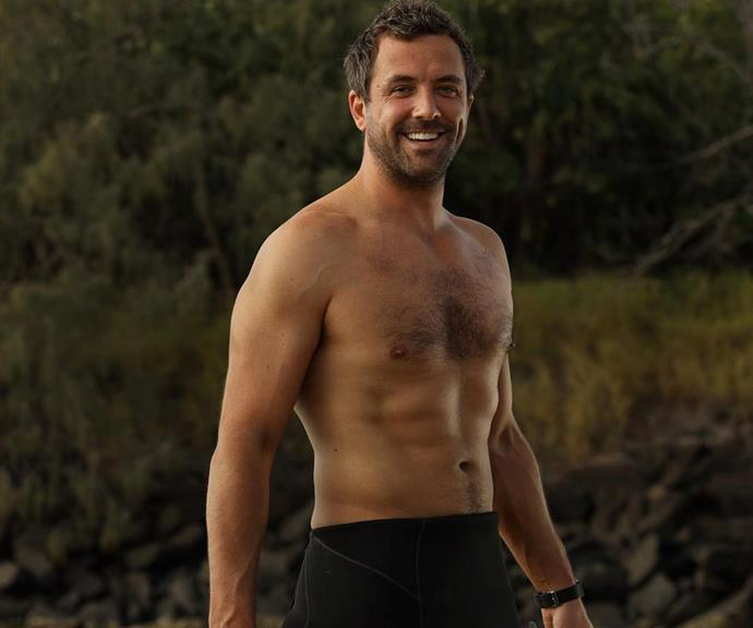 Darren McMullen during THAT famous shirtless scene in *SeaChange*.