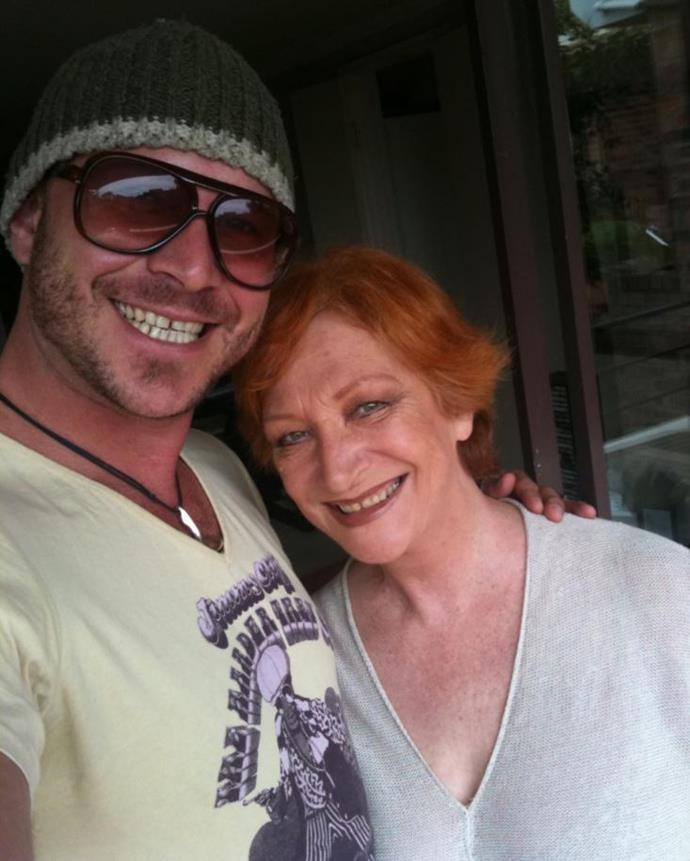 Cornelia Frances and her son, Lawrence.