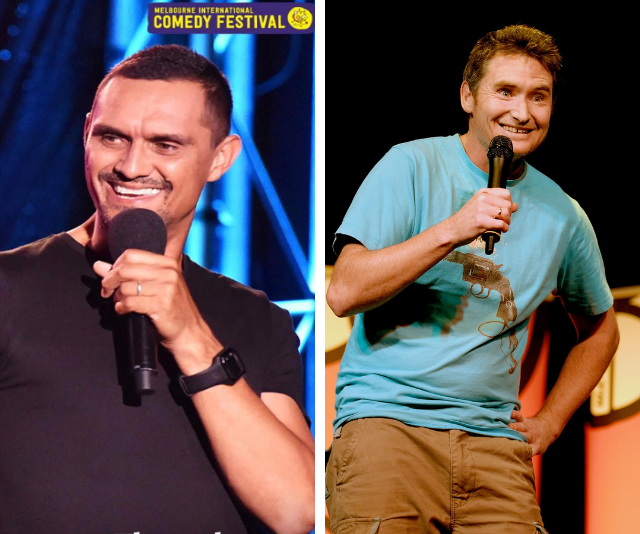 Andy (left) has become chummy with comedian Dave Hughes (right).
