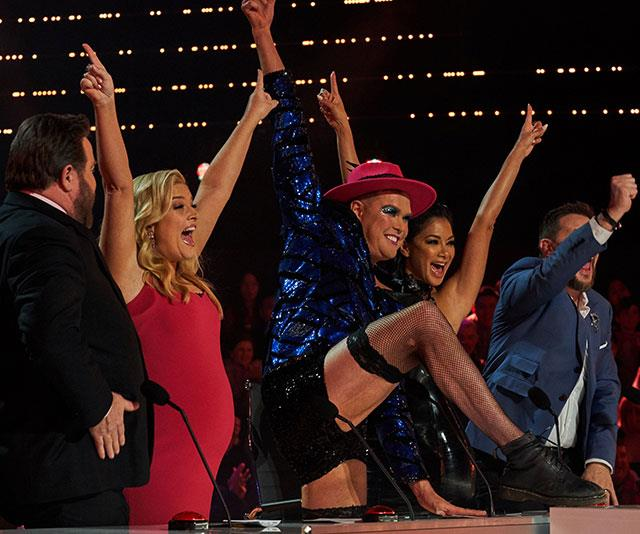The *AGT* judges were in awe of her performance, with guest judge Hans (centre) rewarded her with the Golden Buzzer.