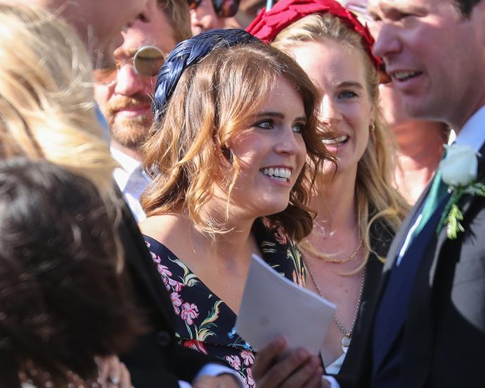 Princess Eugenie was glowing at the A-list nuptials.
