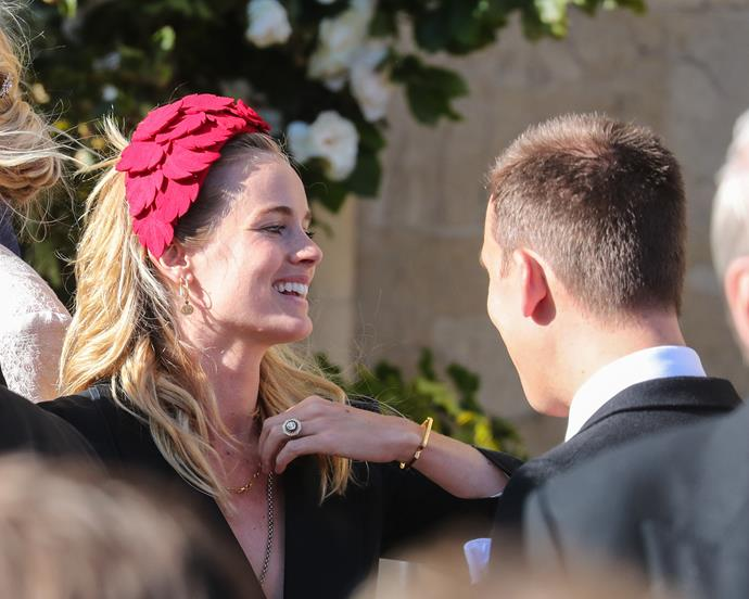 Newly engaged Cressida Bonas was also spotted at the ceremony.