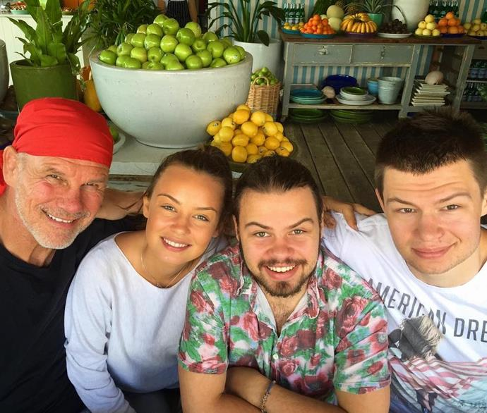 """Carrie's *Project* co-host Lisa Wilkinson paid tribute to husband Peter FitzSimons with their children Billi, Jake and Louis before sending a """"special shout out"""" to people like herself missing their fathers that day."""