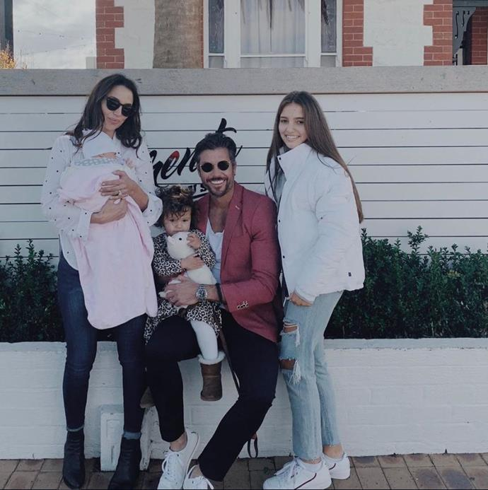 """While we're on the subject of *Bachelor* dads, Sam Wood celebrated his first Father's Day with all three daughters and wife Snezana. Not only was he spoiled rotten, but he declared """"Today really was the best Fathers Day EVER."""""""