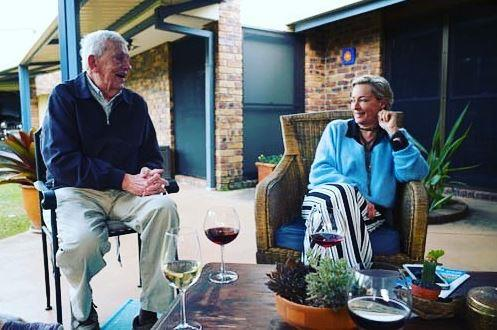 """*The Living Room*'s Amanda Keller posted a tribute to her """"hero"""" Arthur and shared a photo from the previous weekend """"sharing a wine and a laugh."""""""