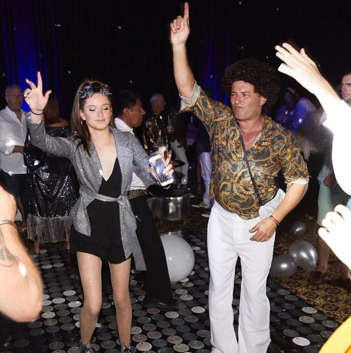 Dad-of-three Karl Stefanovic honoured his special day with a groovy pic of himself and daughter Ava (known as Willow on Instagram) at his Studio 54 themed post-wedding party last year.