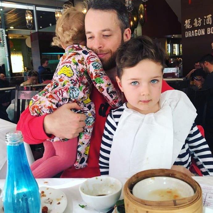 """""""There is truly nothing on earth that even comes close to the feeling of pure love, total joy and deep contentment in your soul that you get from yum cha. No wait, I mean FATHERHOOD!"""" Hamish joked in his own Father's Day Instagram post."""