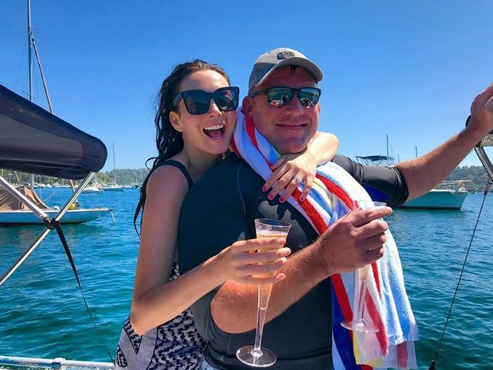 *Australia's Got Talent* host Ricki Lee posted this sweet photo of herself and her dad having some fun in the sun.