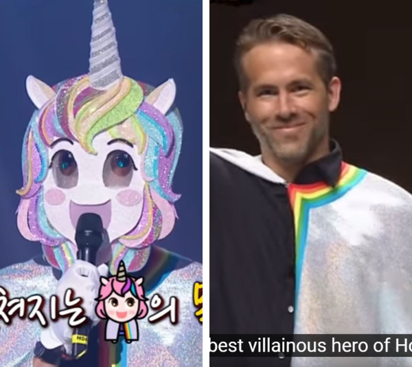 Ryan Reynold's surprise performance on *The Masked Singer*, Korea.