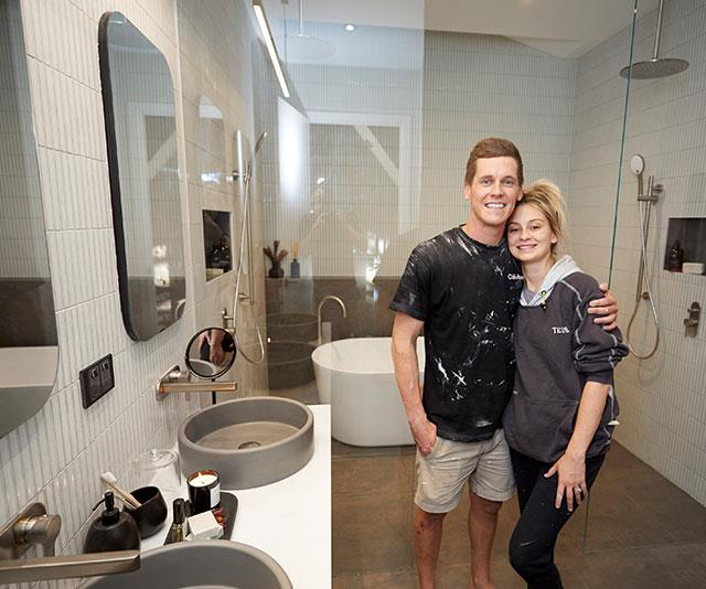 Tess and Luke won the main bathroom reveal