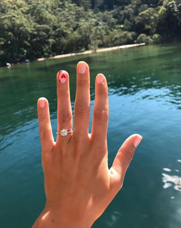 Georgia's manicure is proposal perfection!