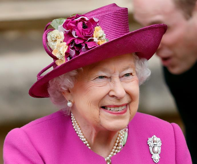Her Majesty reportedly loves to wear pink.