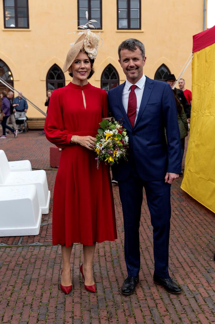 To mark 800 years of the Danish flag, the Crown Prince and Princess colour-coordinated in red and looked like the ultimate royal couple.