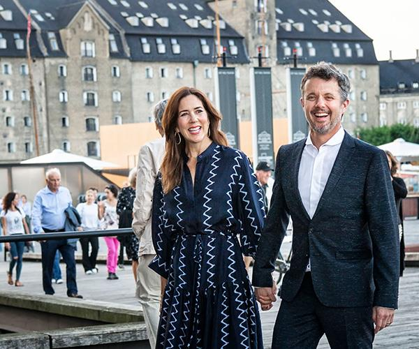 The royal couple were all smiles as they held hands at a gala premiere in Copenhagen in September 2019.