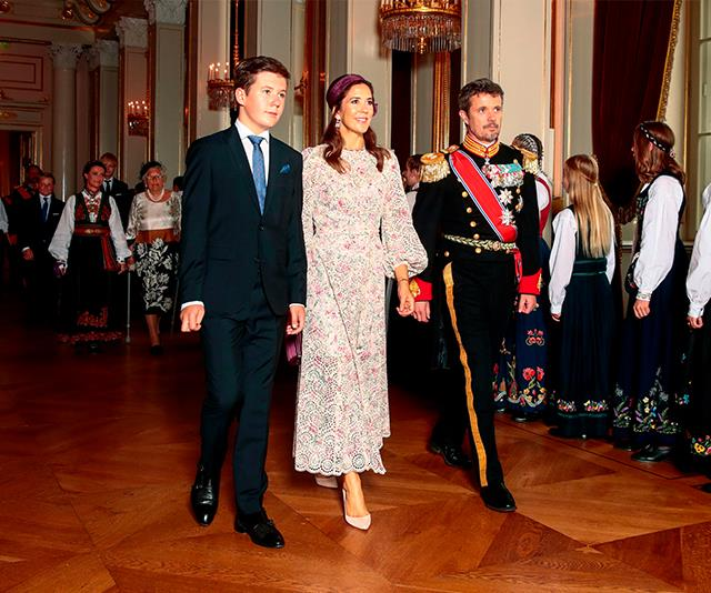 Crown Princess Mary was joined by her husband Crown Prince Frederik and their son, Prince Christian.