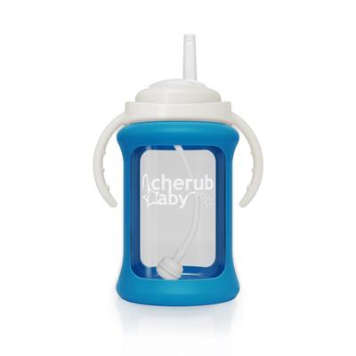 """[**Cherub Baby Wide-neck Glass Straw Cup with Colour Change Silicone Sleeve**,](https://www.cherubbaby.com.au/product-category/baby_bottles_and_cups/sippy-cups/150ml-sippy-cups/