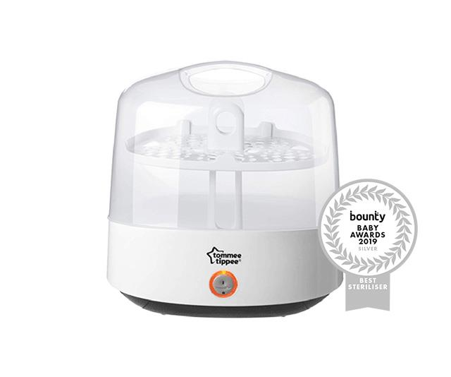 "**[Tommee Tippee Electric Steam Steriliser](https://www.tommeetippee.com.au/product/bottle-feeding/sterilising|target=""_blank""