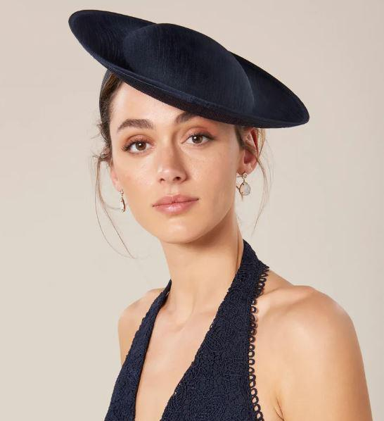 "[Small disk ""hatinator"" in navy, $60, from Forever New](https://www.forevernew.com.au/denver-small-disk-hatinator-261081?colour=navy