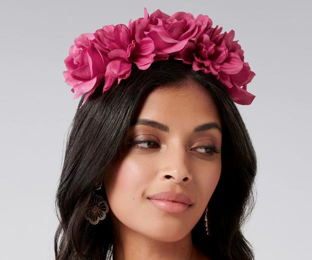 "[Flower crown headband, $30, from Forever New](https://www.forevernew.com.au/alyssa-flower-crown-fascinator-255523?colour=fuchsia|target=""_blank""