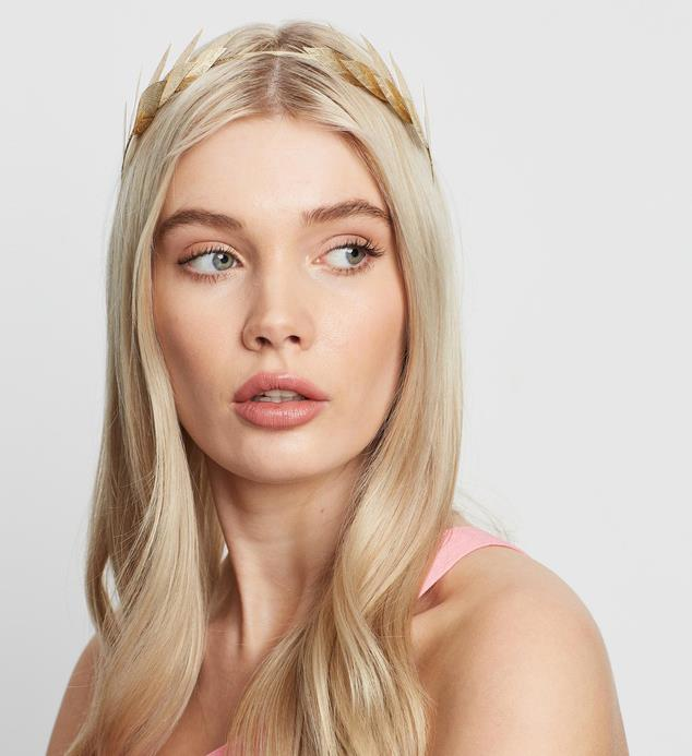 "[Morgan and Taylor ""Grecia"" gold leaf headband, $29.95, from The Iconic](https://www.theiconic.com.au/grecia-904319.html