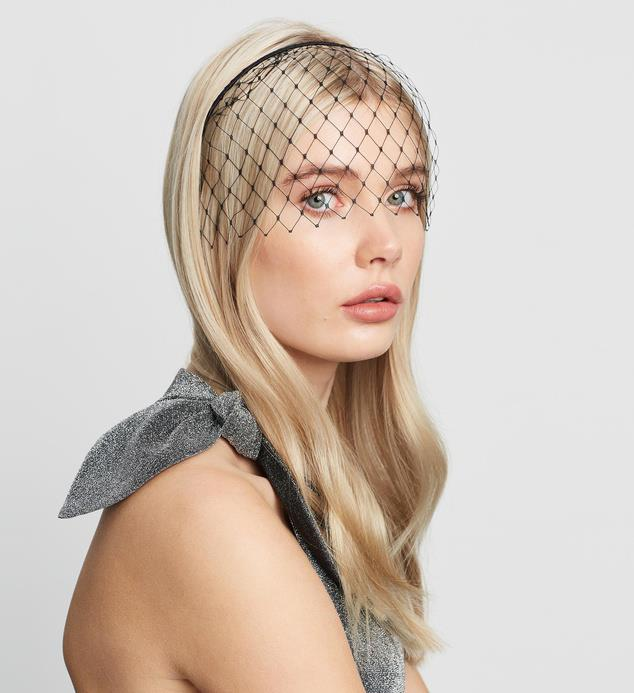 "[Morgan and Taylor Lucia veil headpiece, $29.95, from The Iconic](https://www.theiconic.com.au/lucia-headpiece-904309.html|target=""_blank""