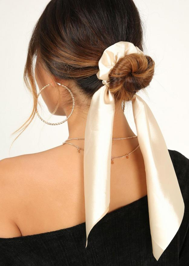 Wrap around your messy bun or ponytail for a lazy girl's solution to the headwear dilemma.