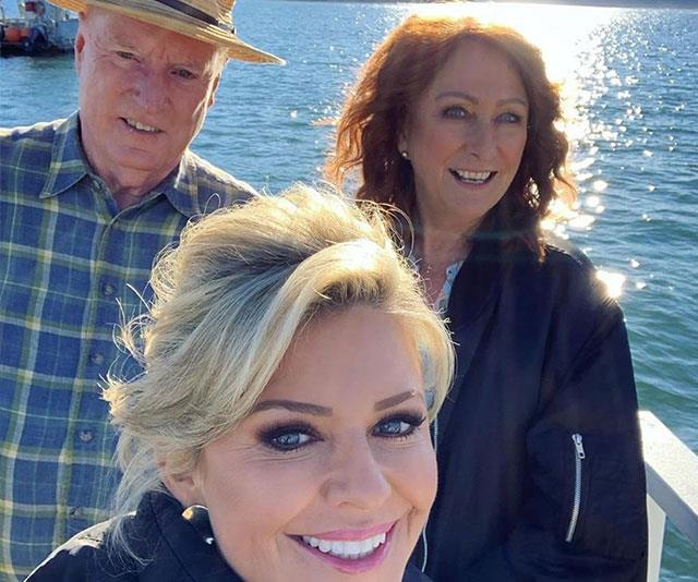 Lynne with fellow co-stars Ray Meagher and Emily Symons.