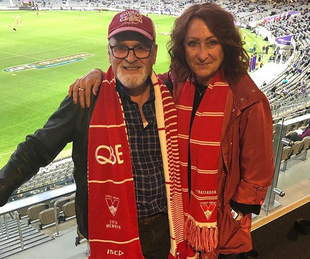 Lynne and her partner Paul are keen Swans fans.