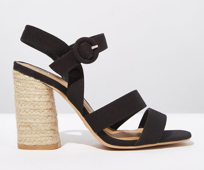 "[Rubi Shoes Santal Strappy Espadrille Heel, $50, from Cotton On](https://cottonon.com/AU/santal-strappy-espadrille-heel/424544-01.html?dwvar_424544-01_color=424544-01&cgid=womens-high-heels&originalPid=424544-01|target=""_blank""