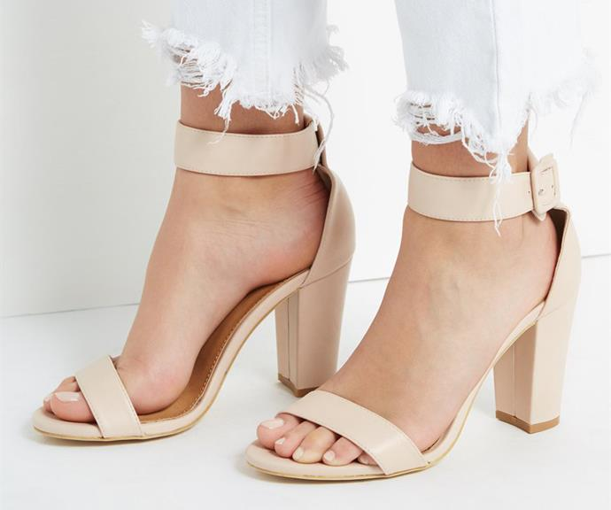 "[Rubi San Sebastian Heel, $40, from Cotton On.](https://cottonon.com/AU/san-sebastian-heel/9351533363324.html?|target=""_blank"")."