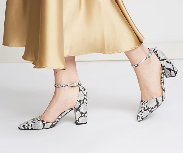 "[Therapy Loren snakeskin block heels, $69.95 from The Iconic](https://www.theiconic.com.au/loren-801454.html|target=""_blank""
