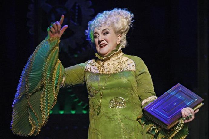 Maggie as Madame Morrible in WICKED.