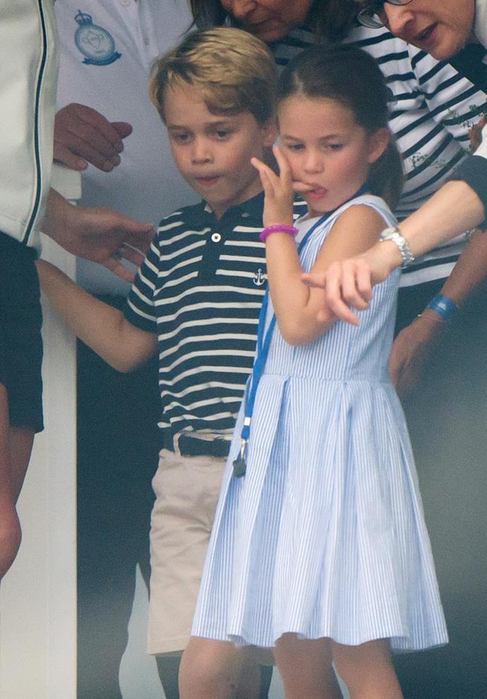 Princess Charlotte will have big brother George to look out for her at the new school.