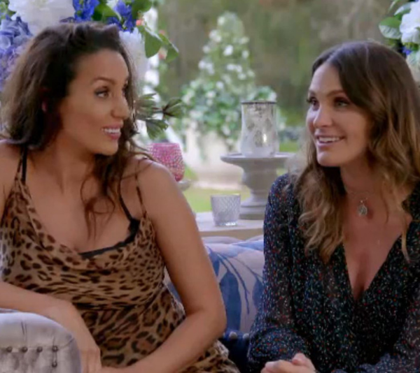 Things got a little handsy when reality-love victors, Snezana Wood and Laura Byrne stopped in to chat to the final seven on Wednesday's episode of *The Bachelor*.
